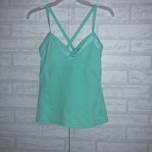 Women's Alo cross back tank sz S A2